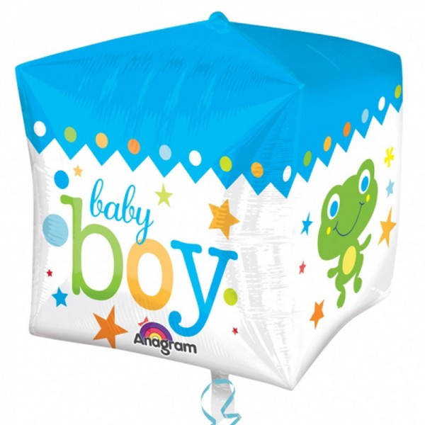 "Folienballon "" Baby Boy "" Würfel 38x40 cm"