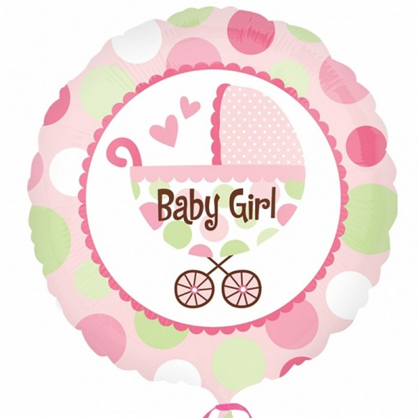 "Folienballon mit Kinderwagen-Motiv "" Baby Girl "" 45cm"