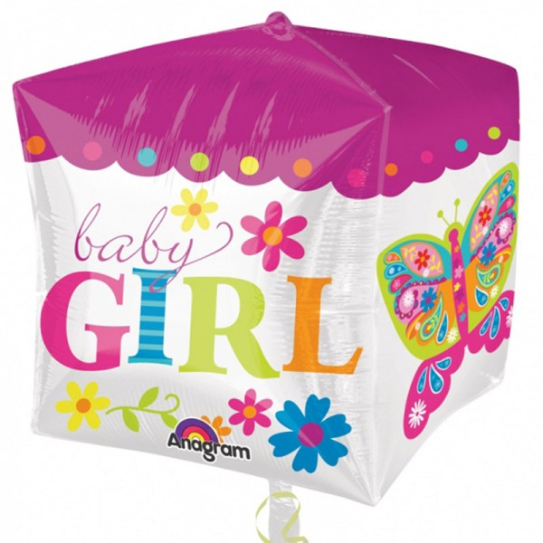 "Folienballon "" Baby Girl "" Würfel 38x40 cm"