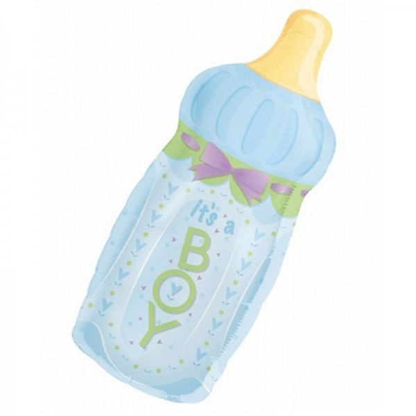 "Folienballon "" It´s a Boy "" Babyflasche 79x33 cm"