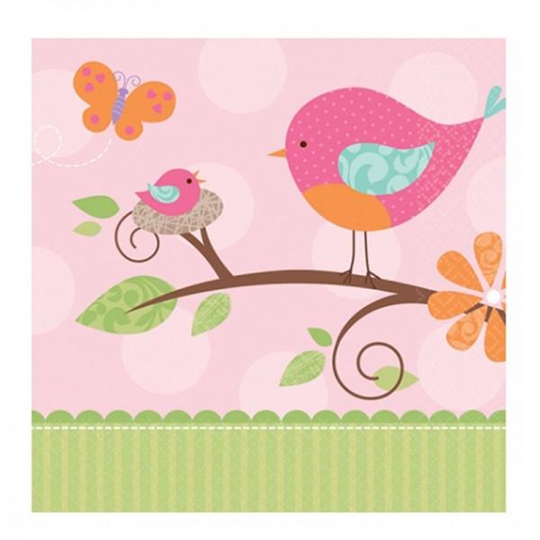 """Servietten """" Birdy Girl """" 32,7x32,7cm"""
